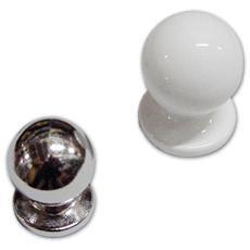 Pomolo per Mobili in Zama Bianco Misura 20 mm Altezza 25 mm Art. 1210