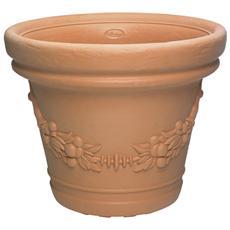Vaso in resina cm D 59xH 47,5 cm