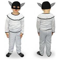 537363 Costume Carnevale Travestimento Pulcinella Bambino Da 3 A 12 Anni - 9/12 Anni