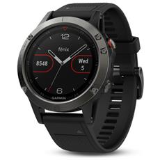 Fenix 5 Sportwatch GPS con Misurazione Frequenza Cardiaca al Polso Cassa 47mm Colore Sapphire Nero