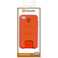 Mac Microshield Accent Cover bordo gommato x iPhone 5/5s / SE Rosso / Arancio
