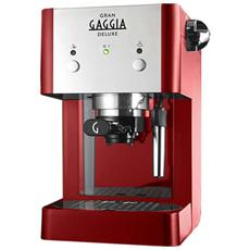 RI8425/22 Gran Gaggia Deluxe Macchina da Caffè Espresso Manuale Capacità Serbatoio 1 Litro Potenza 950 Watt Colore Rosso