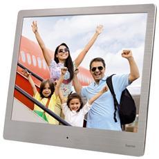"""Cornice Digitale 7118560 Display 8"""" Formato 4:3 Lettore SD / SDHC / MMC Colore Argento"""