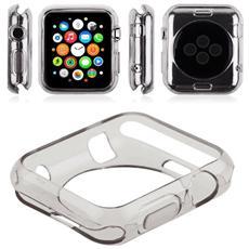 Bumper Protettivo Defender in morbito TPU per Apple Watch da 38mm - Trasparente