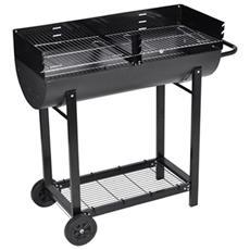 Barbecue Braciere Con Griglia A Legna E Carbone