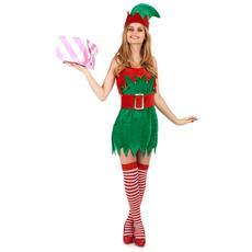 Travestimento Elfo Natalizio Da Donna M / L