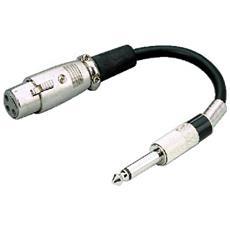 06.0340 1 x 3-pole XLR 1 x 6.3 mm mono plug Nero cavo di interfaccia e adattatore