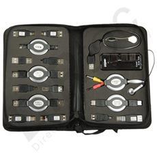 Kit Usb Da Viaggio Con Connettore Cavi Retrattili Cuffie Microfono Mouse Hub 4 Porte