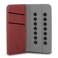 """Custodia Universale in Pelle per Smartphone 4"""" - Colore Rosso"""