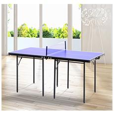 Tavolino Da Ping Pong Pieghevole In Legno Mdf, Blu E Nero, 153x76.5x67cm