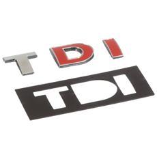 07228 Tdi - Emblema 3d Cromato, Per Decorazione Auto, 102 X 37 Mm