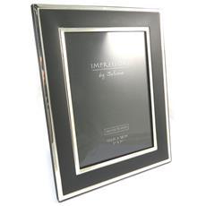 cornici portafoto 'design' argentato nero (13x18 cm) - [ n4786]