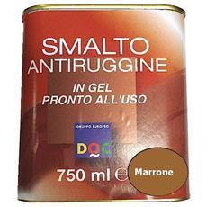 Smalto Sintetico Antiruggine E Di Finitura In Gel 0,75 Lt Marrone Lucido - 33009