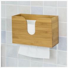 Porta Carta Igienica A Muro, Portatovaglioli Da Parete, bambù, frg244-n
