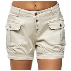 Desires Kathy Pantaloncini Chino Shorts Panno Corti da Donna Elasticizzato