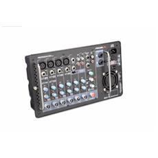 FREEPASS10 Sistema audio completo con due diffusori e mixer amplificato rimovibile