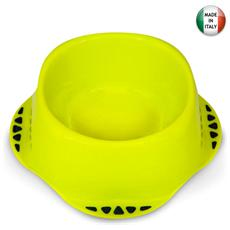 Ciotola 15xH7 cm polipropilene per alimenti cani e gatti colori assortiti