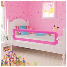 Barriera Di Sicurezza Per Letto Bambino 150 X 42 Cm Rosa
