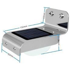 Luce Da Esterno Solare Con Attivazione Sonora E Sensore Crepuscolare
