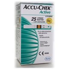 Accu-chek Active Strisce Reattive 25 Pezzi Roche Diabetes Care Italy