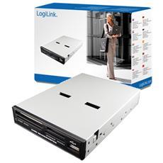 Flash Reader LogiLink 54-in-1 - USB 2.0 - SmartMedia, Scheda xD-Picture, Memory Stick, Scheda Secure Digital (SD) , Secure Digital High Capacity (SDHC) , CompactFlash tipo I, CompactFlash Type II, Microdrive, Memory Stick PRO, Memory Stick Duo, MultiMediaCard (MMC)