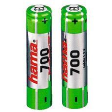 Batteria per cordless AAA 1,2/700 NiMH (2 pzz)