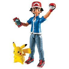 Figura Pokemon Ash E Pikachu Action Figures 2 Pack