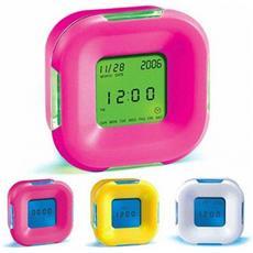 Sveglia Digitale Colorata Multifunzione Rotazione Da Comodino Tavolo Allarme Ora Orologio Timer Temperatura