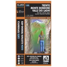 Trento, monte Bondone, valle dei laghi, Monte Calisio, la Marzola, Vigolana, Soporasasso, Garniga terme, Monte Gazza. Carta escursionistica 1:25.000