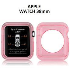 Custodia Gel Tpu Silicone Per Apple Watch 38mm Colore Rosa Trasparente