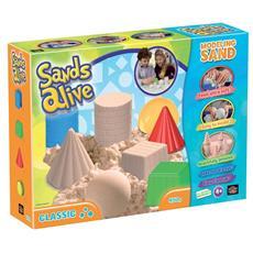 Sands Alive - Super Sabbia - Classic - Vaschetta Con Sabbia + 4 Formine