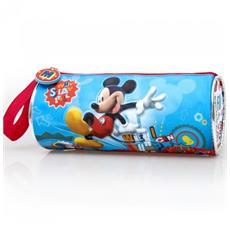 Tombolino Portacolori per la Scuola o il Disegno in Tessuto Mickey Mouse