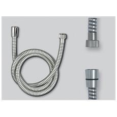 Tubo Spirale Rinforzata, Cono X Esagono, Flessibile Per Doccia Tipo Tedesco Cm. 150 Con Spirale Rinforzata Attacchi Conici Ff1/2'' X 1/2'' Esagono In Pvc Bianco