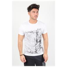 T-shirt Train Sport Graphic Bianco L