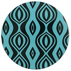 Glamour Sottopentola Tondo, Ceramica E Sughero, Multicolore, 16x16x1 Cm