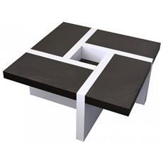 Tavolino Da Salotto Bianco E Marrone Arredamento Moderno Salotto
