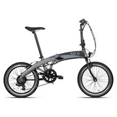 Bici Elettrica Pieghevole Bottecchia Graziella Agile 20 6v - Tx-35 - Li-ion 24v 10ah - Nero - Grigio Opaco