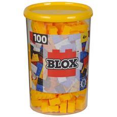 Mattoncini Piccoli 4x2 - Barattolo 100 Pz - Colore Giallo