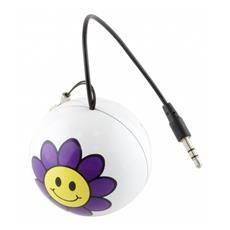 Speaker Audio Portatile Connettore Jack da 3,5 mm Colore Porpora Bianco e Giallo