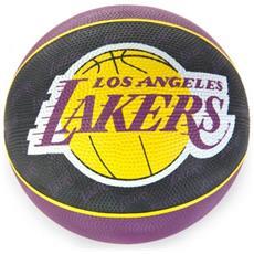 Pallone Basket Lakers Viola Giallo 7