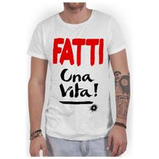 T-shirt Uomo Fatti Una Vita M Bianco