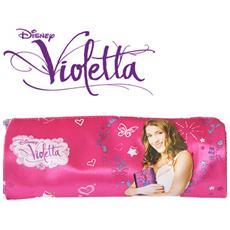 Tombolino Portacolori per la Scuola o il Disegno in Tessuto Violetta