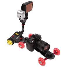 Motorizzato Pushcart per Videocamere e Fotocamere Reflex Digitale Nero e Giallo SK-MS01