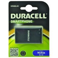 Batteria Telefono Cellulare DURACELL - 1000 mAh - Ioni di litio (Li-Ion) - 3,7 V DC - Batteria ricaricabile