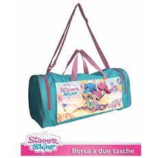 Borsone Sport Viaggi Con Tasche Shimmer & Shine Da Passeggio Tracolla Bambina
