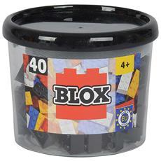 Mattoncini Piccoli 4x2 - Barattolo 40 Pz - Colore Nero