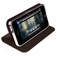 Slim folio case and stand per iPhone 5C Purple / Brown