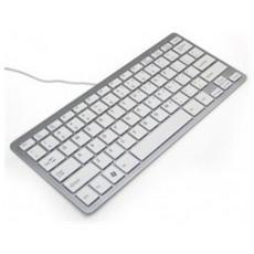 Ergo Compact, USB, QWERTY, Argento, Bianco, USB, 125 x 285 x 15 mm