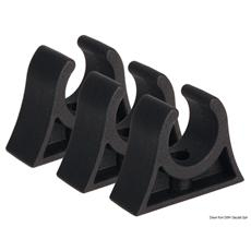 Clip nera per tubi 28/30 mm