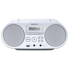 Stereo Portatile ZS-PS50 Lettore CD Supporto MP3 / WMASintonizzatore FM / AM Ingresso Audio USB colore Bianco
